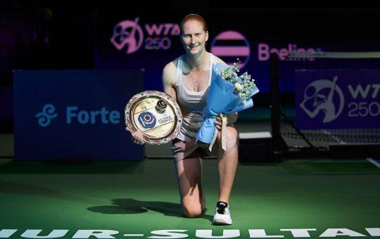 Van Uytvanck trophy 1 540x340 - WTA Nur-Sultan: Van Uytvanckovi turnir v Kazahstanu