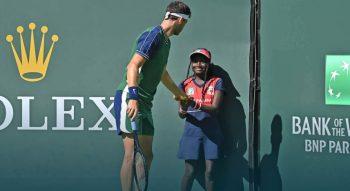 dimitrov 350x191 - ATP Indian Wells: Bolgar prijazno pomagal pobiralki žogic