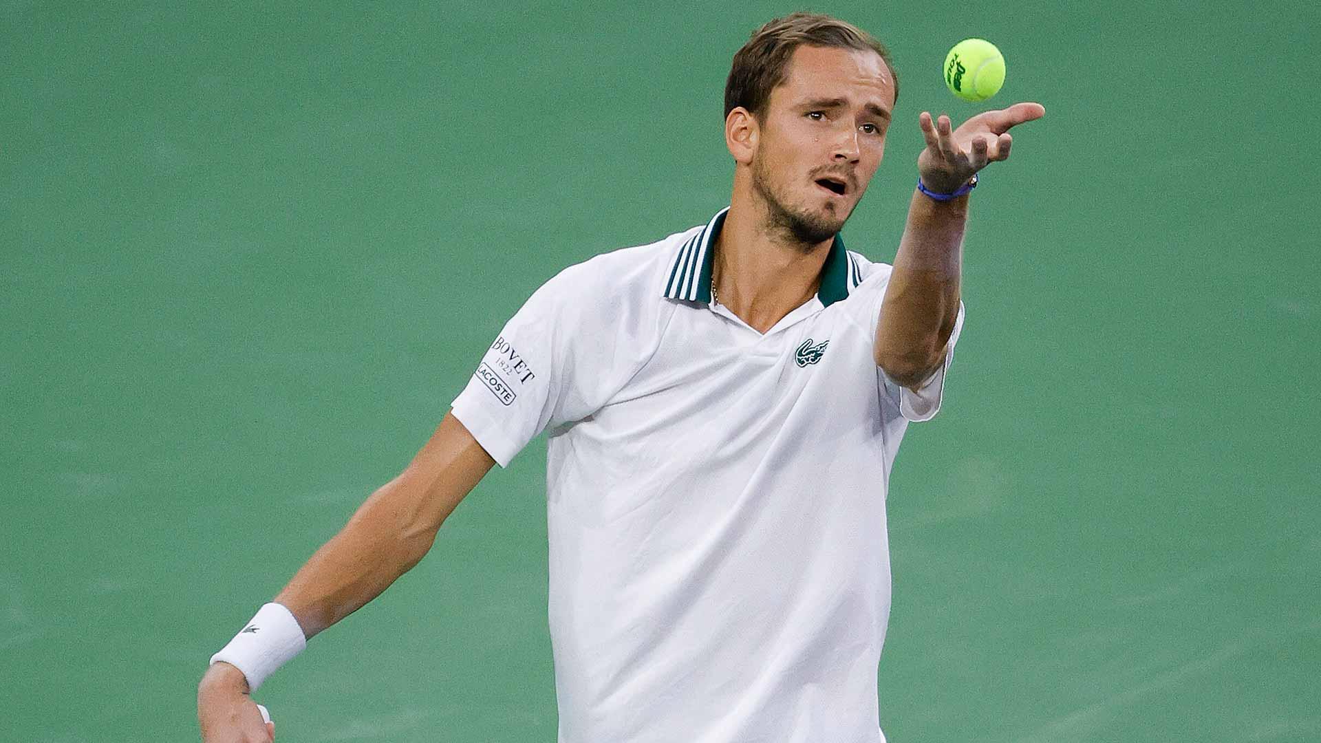 medvedev indian wells 2021 saturday serve - ATP Indian Wells: Slovo prvega nosilca